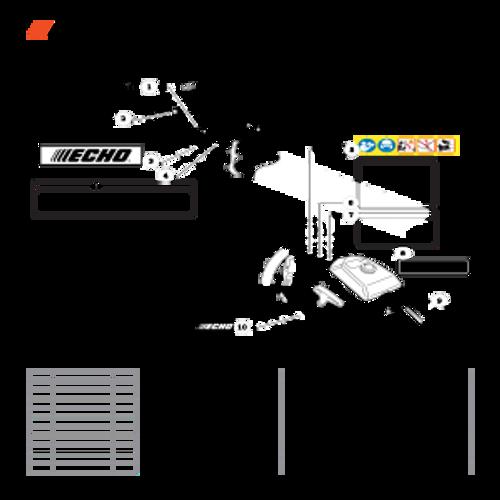 CS-800P SN: C30812001001 - C30812999999 - Labels Parts lookup