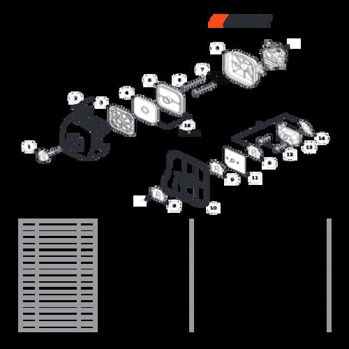 SRM-280 SN: T48014001001 - T48014999999 - Intake Parts lookup