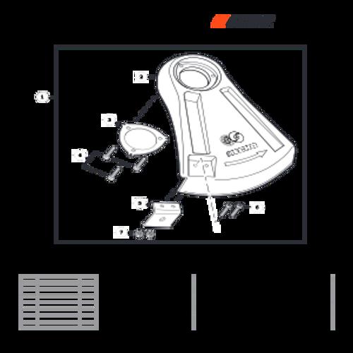 SRM-280 SN: T48014001001 - T48014999999 - Debris Shield Parts lookup