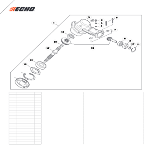 SRM-280 SN: T48014001001 - T48014999999 - Gear Case Parts lookup