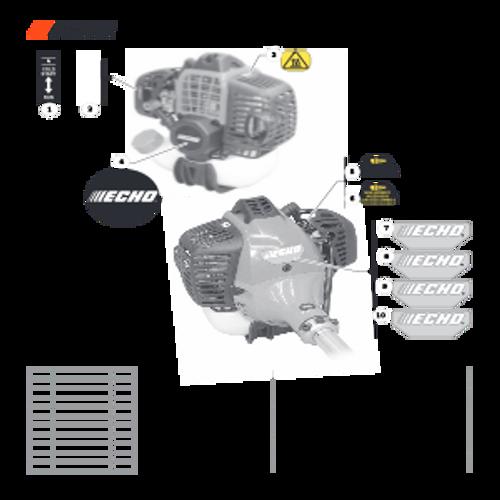 SRM-280 SN: T48014001001 - T48014999999 - Labels Parts lookup