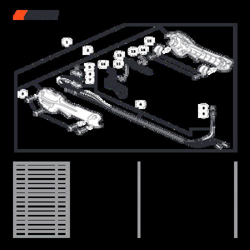 SRM-3020 SN: U09715001001 - U09715999999 - Control Handle Parts lookup