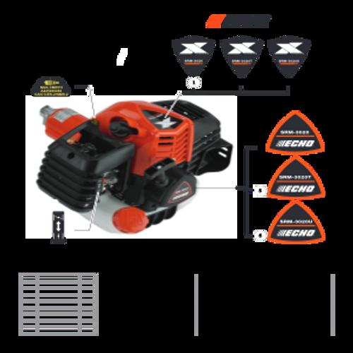 SRM-3020 SN: U09715001001 - U09715999999 - Labels Parts lookup