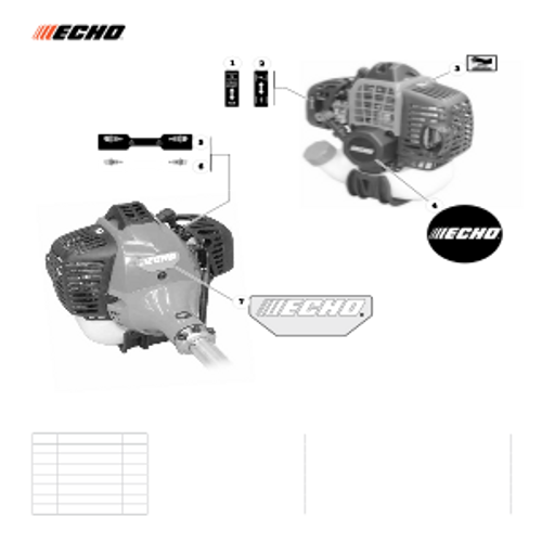 PAS-280 SN: T49914001001 - T49914999999 - Labels Parts lookup