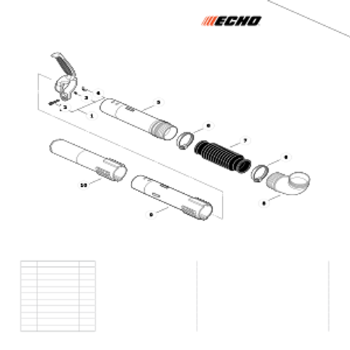 PB-265LN SN: P43014001001 - P43014999999 - Posi-Loc Blower Tubes Parts lookup