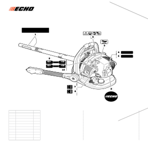 PB-265LN SN: P43014001001 - P43014999999 - Labels Parts lookup