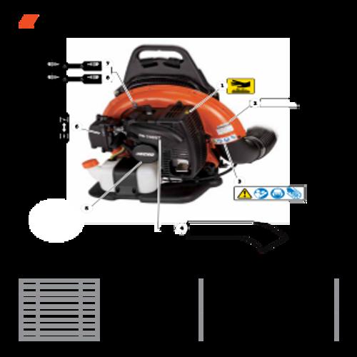 PB-755ST SN: P04112001001 - P04112999999 - Labels Parts lookup