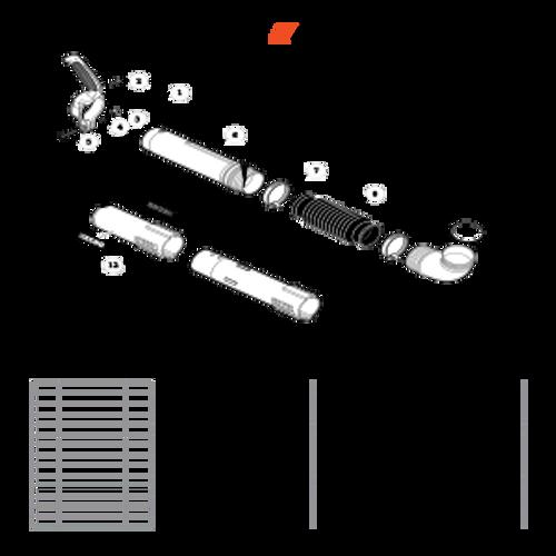 PB-770H SN: P30613001001 - P30613999999 - Posi-Lock Blower Tubes Parts lookup