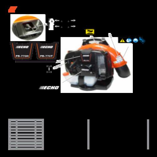 PB-770H SN: P30613001001 - P30613999999 - Labels Parts lookup