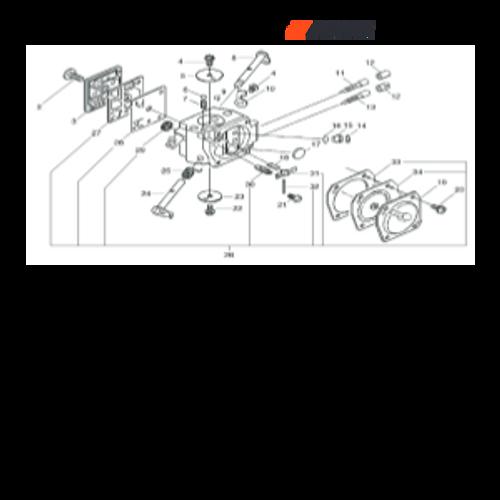 CSG-680 SN C23220001001 - C23220999999 - Carburetor Parts lookup