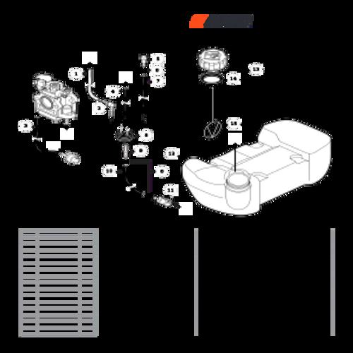 EA-410 SN: E52012001001 - E52012999999 - Fuel System Parts lookup