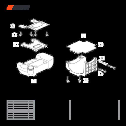 EA-410 SN: E52012001001 - E52012999999 - Fuel Tank Support Parts lookup