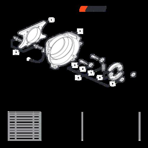 EA-410 SN: E52012001001 - E52012999999 - Fan Cover Parts lookup