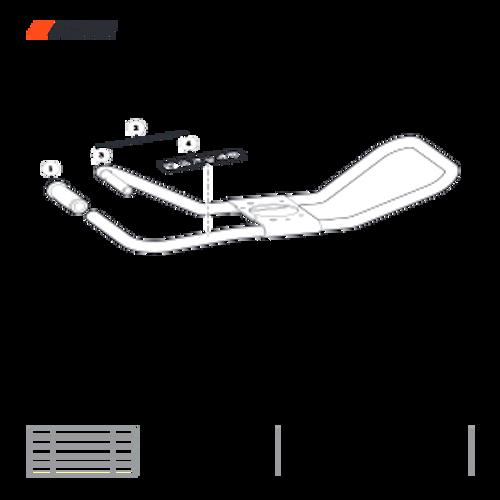 EA-410 SN: E52012001001 - E52012999999 - Handlebar Parts lookup