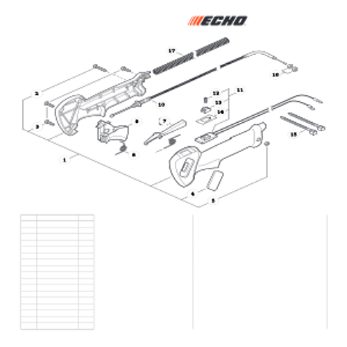 EA-410 SN: E52012001001 - E52012999999 - Control Handle Parts lookup