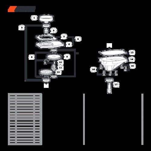 EA-410 SN: E52012001001 - E52012999999 - Gear Case Parts lookup