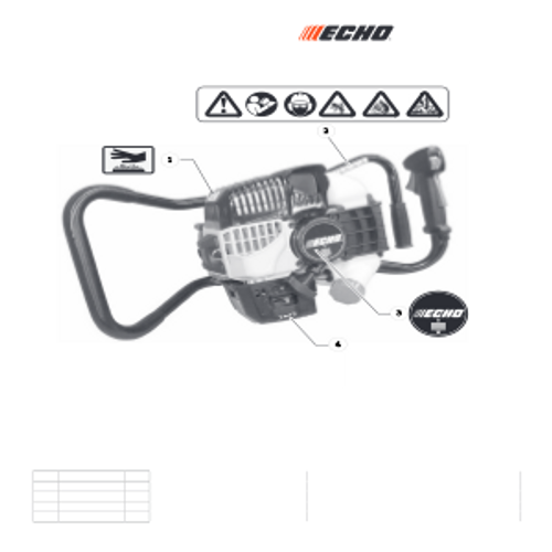 EA-410 SN: E52012001001 - E52012999999 - Labels Parts lookup