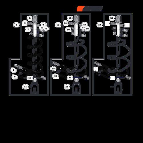 EA-410 SN: E52012001001 - E52012999999 - Accessories: Earth Auger 2 Parts lookup
