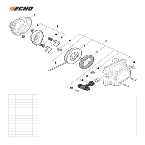 PPT-2620H SN E60515001001 - E60515999999 - Starter Parts lookup