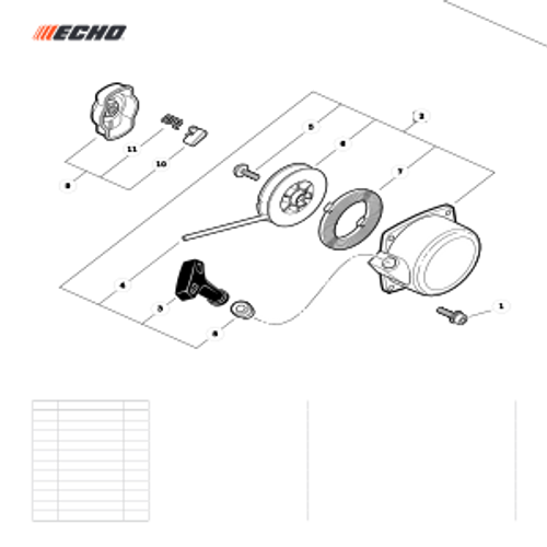 WP-1000 SN: W15103_121917 - Recoil Starter Parts lookup