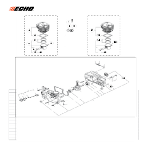 QV-8000 Type 1E SN: C90303001001 - C90303999999 - Cylinder Parts lookup