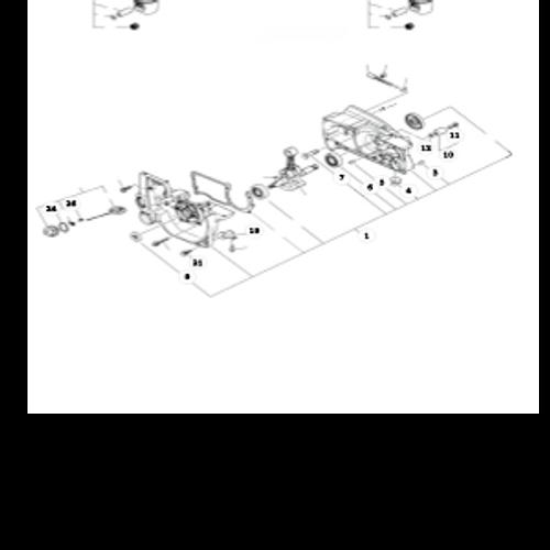 QV-8000 Type 1E SN: C90303001001 - C90303999999 - Engine, Oil Cap, Chain Catcher Parts lookup