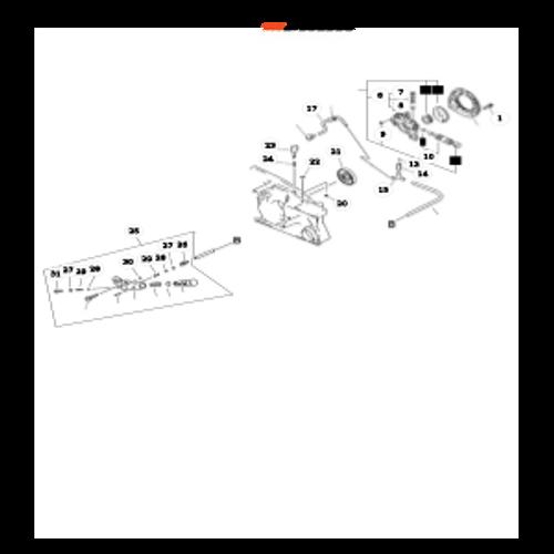 QV-8000 Type 1E SN: C90303001001 - C90303999999 - Auto-Oiler Asy Parts lookup