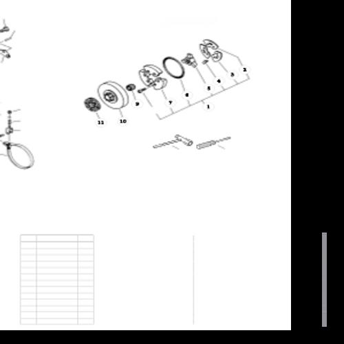 QV-8000 Type 1E SN: C90303001001 - C90303999999 - Clutch, Tools Parts lookup