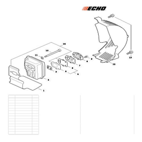 ES-255 SN: P07213001001 - P07213999999 - Exhaust Parts lookup