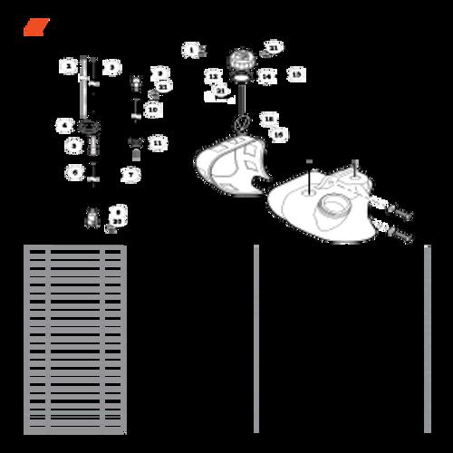 ES-255 SN: P07213001001 - P07213999999 - Fuel System S/N: P07213003957 - P07213999999 Parts lookup