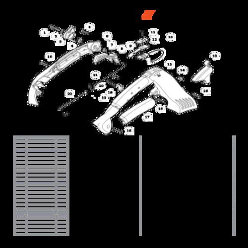 ES-255 SN: P07213001001 - P07213999999 - Handle, Throttle Control Parts lookup