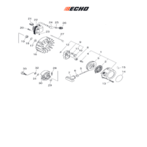PHP-800 SN: H00326001001-H00326999999 - Recoil Starter, Flywhee Parts lookup