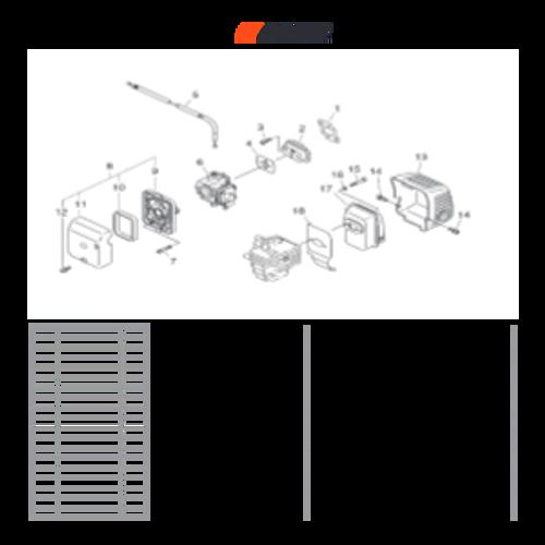 PHP-800 SN: H00326001001-H00326999999 - Muffler, Intake Parts lookup