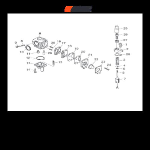 PHP-800 SN: H00326001001-H00326999999 - Carburetor Parts lookup