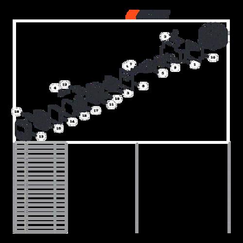 MB-580 SN: D02026001001 - D02026999999 - Intake, Air Filter Parts lookup