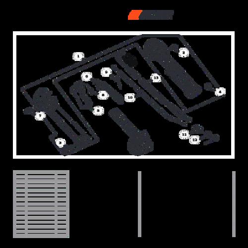 MB-580 SN: D02026001001 - D02026999999 - Control Levers Parts lookup