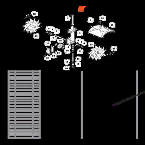 TC-210 SN: E14712001001 - E14712999999 - Tines, Gear Case, Shield Parts lookup