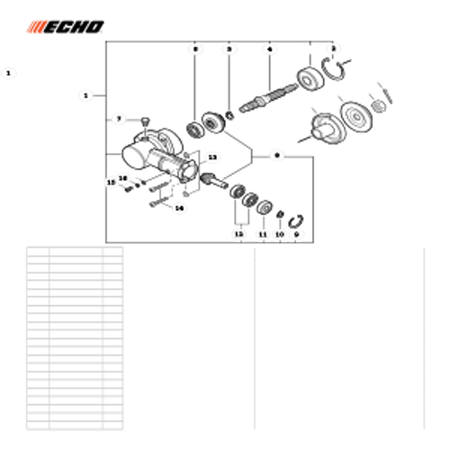 PE-266S SN T43611001001 - T43611999999 - Gear Case S/N T43611001001 - T43611001138 Parts lookup
