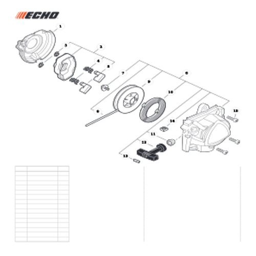 PE-2620 SN T89715001001 - T89715999999 - Starter Parts lookup
