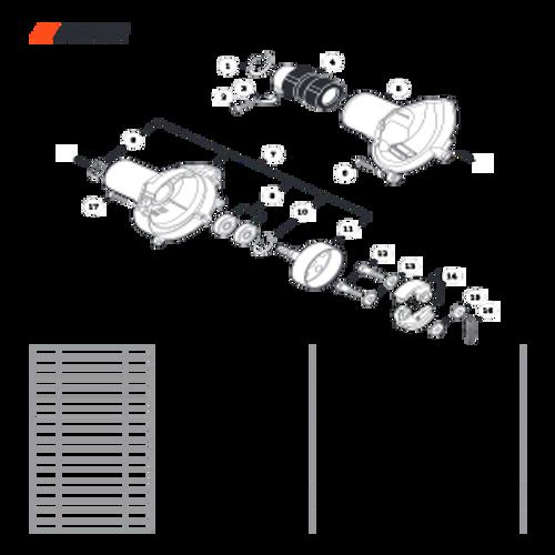 PE-2620 SN T89715001001 - T89715999999 - Fan Case Parts lookup