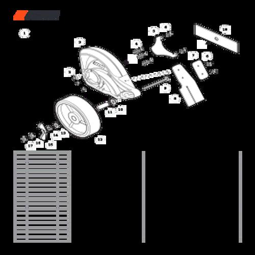 PE-2620 SN T89715001001 - T89715999999 - Edger Shield Parts lookup