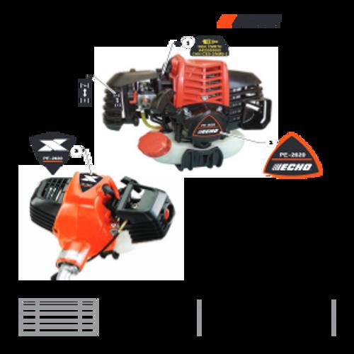 PE-2620 SN T89715001001 - T89715999999 - Labels Parts lookup