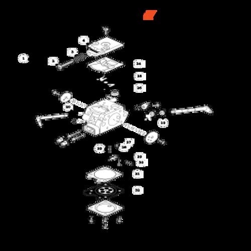 CS-330MX4 SN C04312001001 - C04312999999 - Carburetor Parts lookup