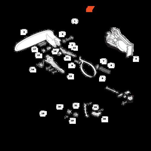 CS-330MX4 SN C04312001001 - C04312999999 - Chain Brake Parts lookup