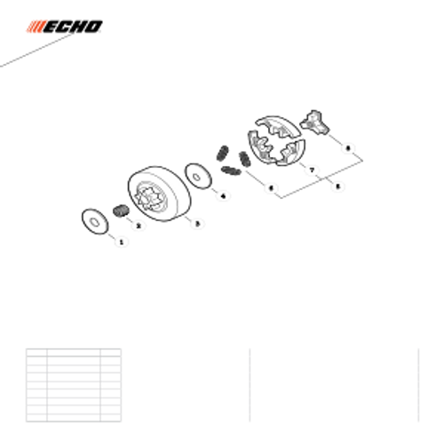 CS-330MX4 SN C04312001001 - C04312999999 - Clutch Parts lookup
