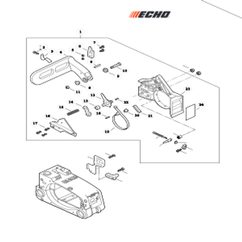 CS-303T SN C26213001001 - C26213999999 - Chain Brake Parts lookup