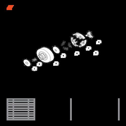 CS-330T SN C04212001001 - C04212999999 - Clutch Parts lookup