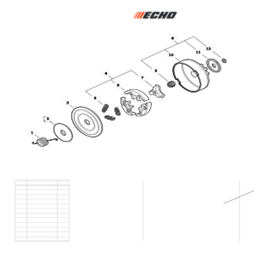 CS-352 SN C19813001001 - C19813999999 - Clutch Parts lookup