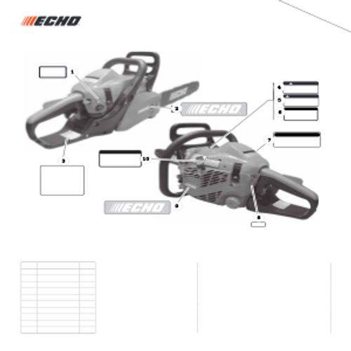 CS-352 SN C19813001001 - C19813999999 - Labels S/N C19813001001 - C19813006677 Parts lookup