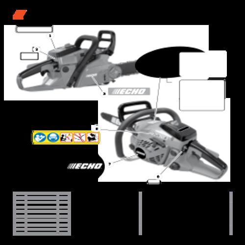 CS-400F SN C27812001001 - C27812999999 - Labels Parts lookup
